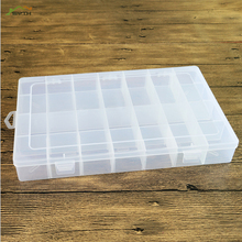 Practical jewelry storage non-adjustable plastic compartment box earrings lid container