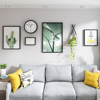 Fresh Plants Picture Frame Set Photo Wall Home Decorative Hanging Painting Clocks Casual Background Family Wedding Picture Frame