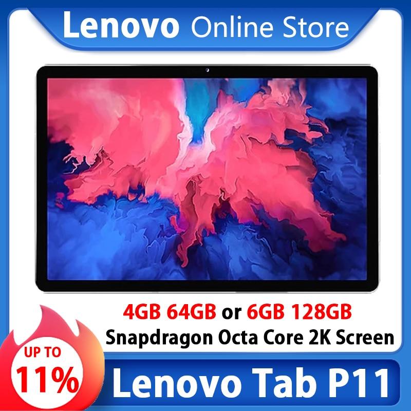 Глобальная прошивка планшета Lenovo Tab P11 или Xiaoxin 11 дюймов Wi-Fi/LTE 2K ЖК-экран Восьмиядерный процессор Snapdragon 6 ГБ 128 планшетный ПК с системой андрои...