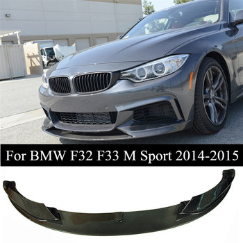 Top Quality Carbon Fiber Front Lip Bumper With Splitters For B-MW 4 Series F32 F33 M Sport 435i Convertible 2014-2015 image