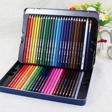 Color pencil 48 color tin box set children pupil painting