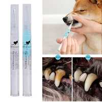 Kit de limpieza de dientes para mascotas, cepillo de dientes de belleza para perros, gatos, sarro, piedra Dental, pluma de limpieza, 3ml