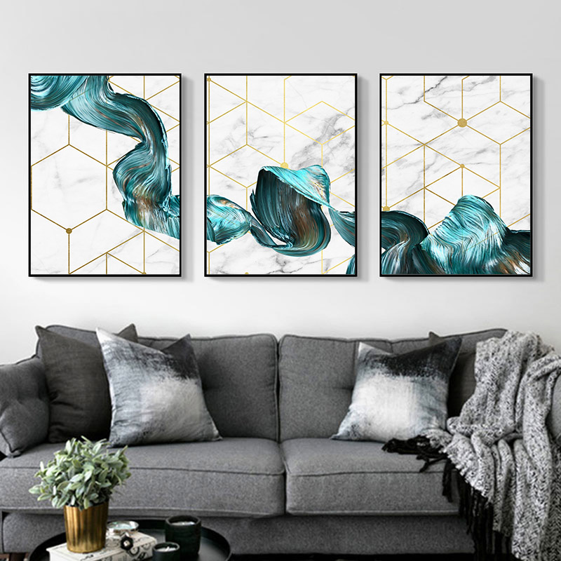 Geometric Canvas Poster Abstract Deer Art Print Simple Nordic Home Decoration