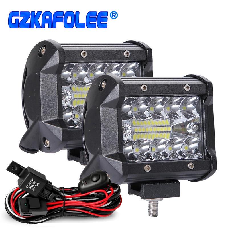 60 Вт 4 дюйма 20 светодиодный водонепроницаемый рабочий светильник светодиодный светильник балки точечный луч для работы, вождения, внедорож...