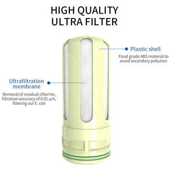10 inch integrated hollow fiber ultrafiltration membrane water filter quick change uf filter element integrated filter core Ultrafiltration Membrane Filter Element Household Faucet Water Purifier AMP-A-1