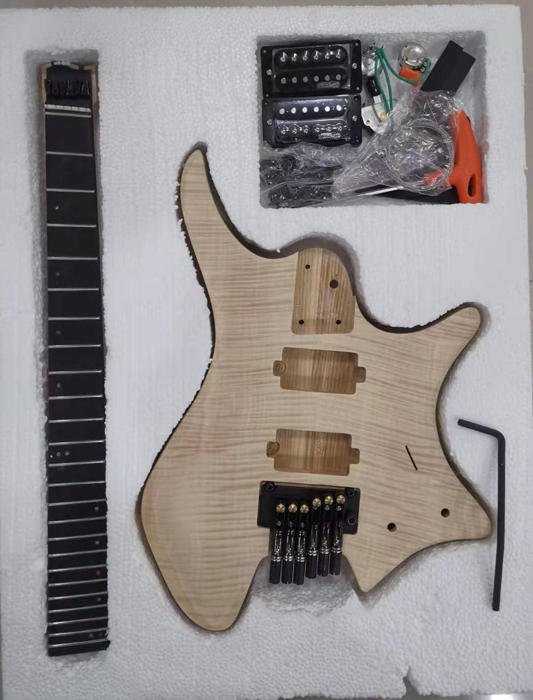 Krait безголовая гитара 6 струн полу финиш DIY гитара fanned fret ash body палисандр fret Бесплатная доставка|Электрогитара|   | АлиЭкспресс