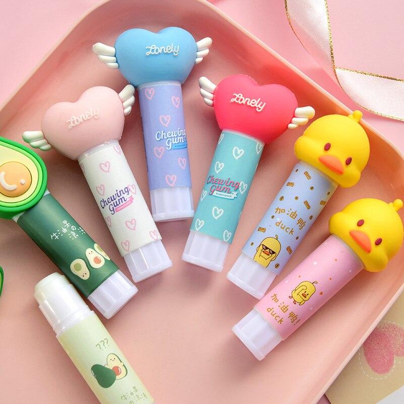 Cute Cartoon Solid Glue Glue Stick Student Korea Stationery Viscosity Stick Paper Sticker DIY Hand Work Learning Supplies