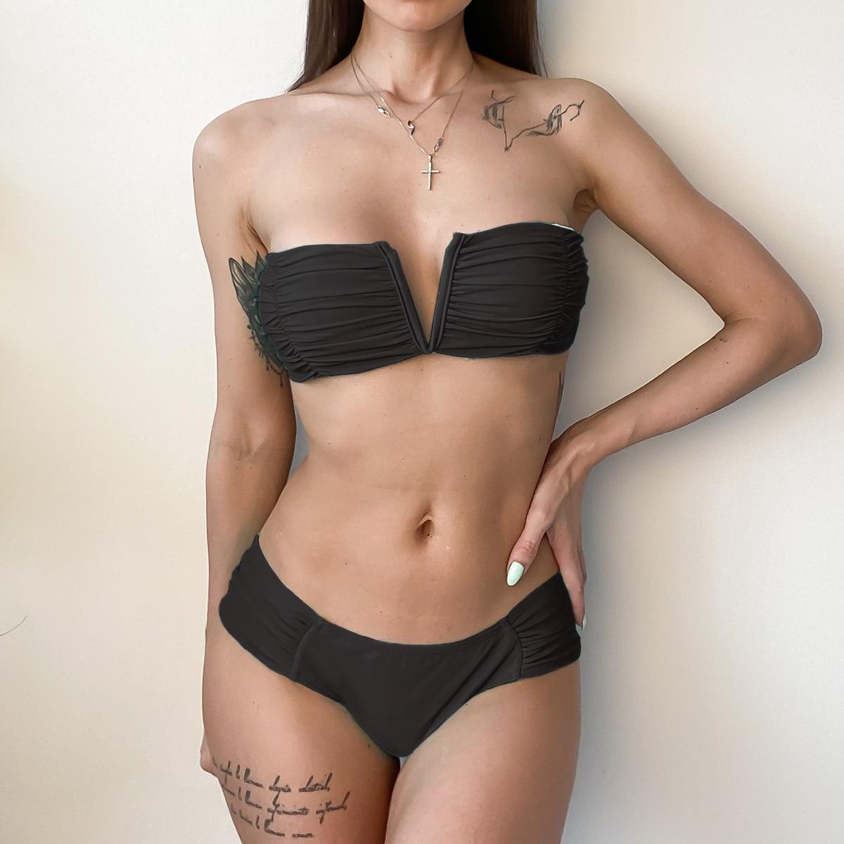 DJC313702-Women Sexy Bikini High Waist Swimsuit