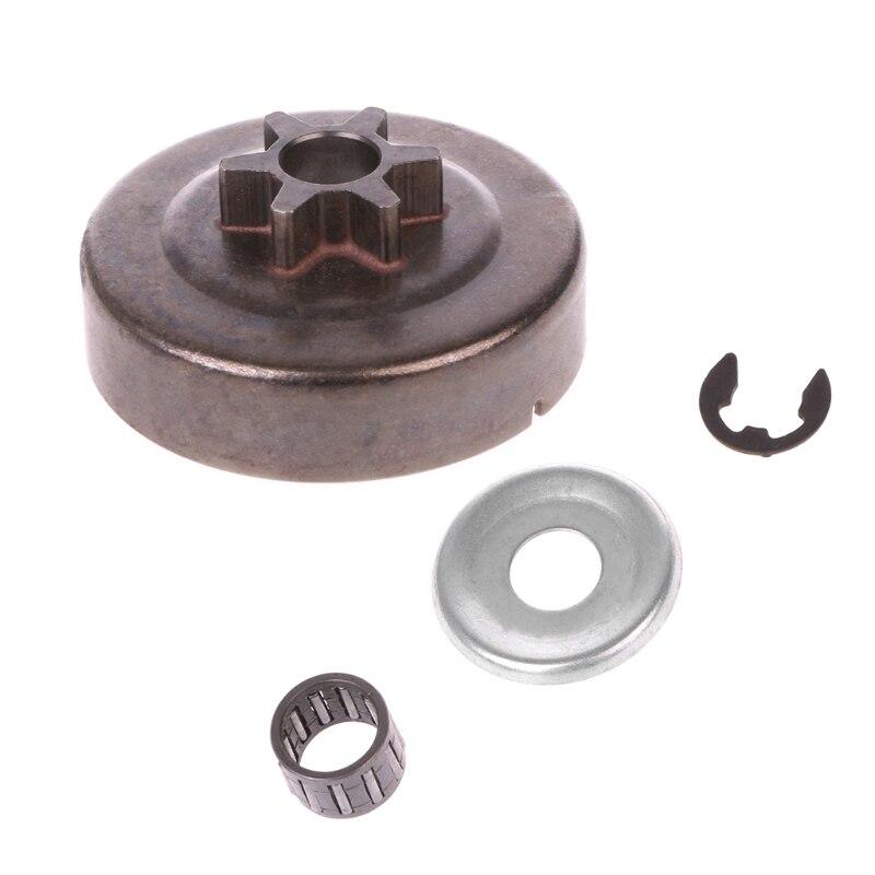 Kettensäge Kupplung Trommel Kettenrad 3/8 6T Washer E-Clip Kit für stIHL MS170 180 Teile