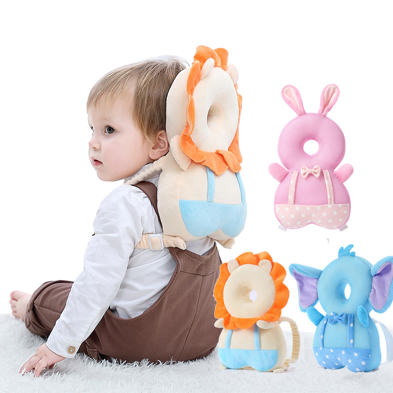 Baby Head Protection Pillow Baby Toddler Protection Pad Soft PP Cotton Pillow Cute Cartoon Baby Care Protective Cushion