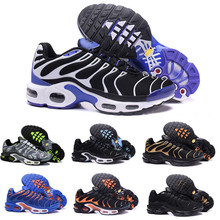 2019 TN Mens Running Shoes New Black White Red Air TN Breathable Mesh Tns Classi