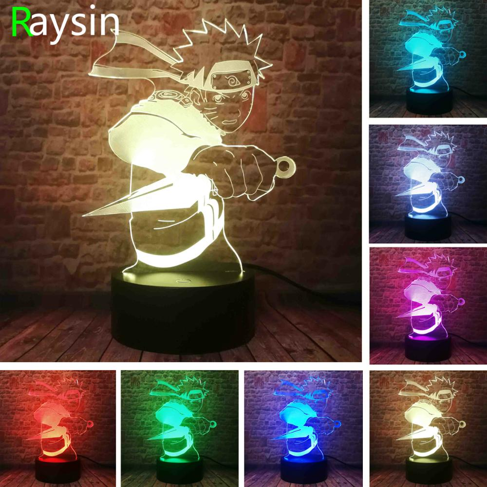 Japan Anime Legends - Naruto Uzumaki Figurines Action Lamp - Professional 7 Colors Change LED Night Light - Boys Child Xmas Gift