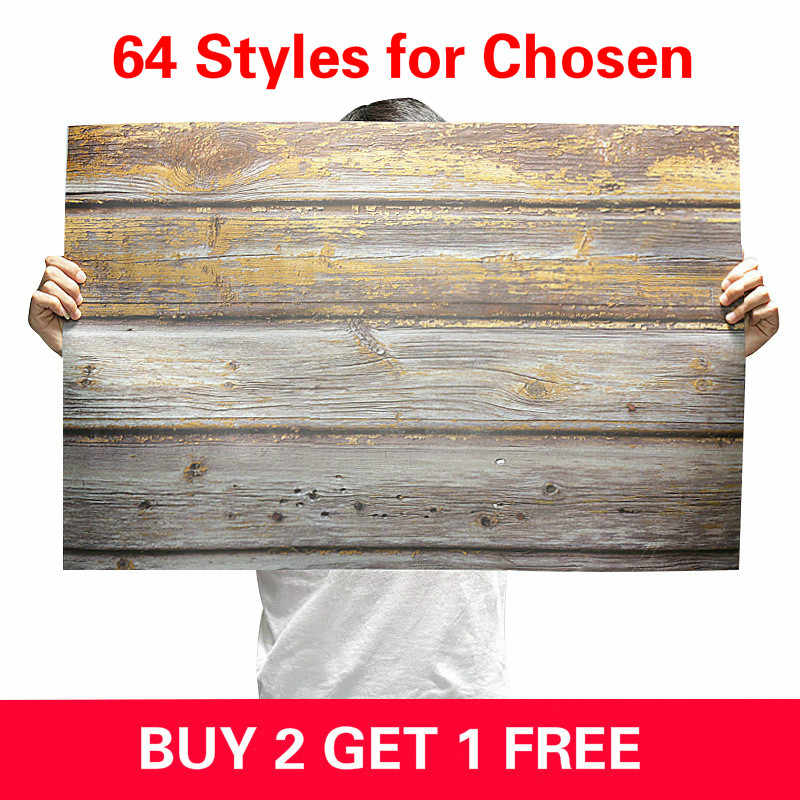 [Buy 2 Get 1 Free] 57X87cm Photography Backdrop 2 Sided Photo Background Wood Grain Waterproof Backdrops Paper For Studio Photo