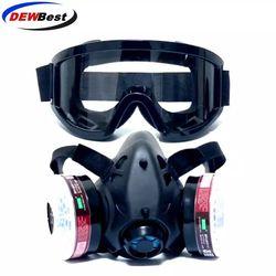 Новая полулицевая газовая маска с противотуманными очками N95 маска от химической Пыли Фильтр дыхательные респираторы для покраски спрей св...