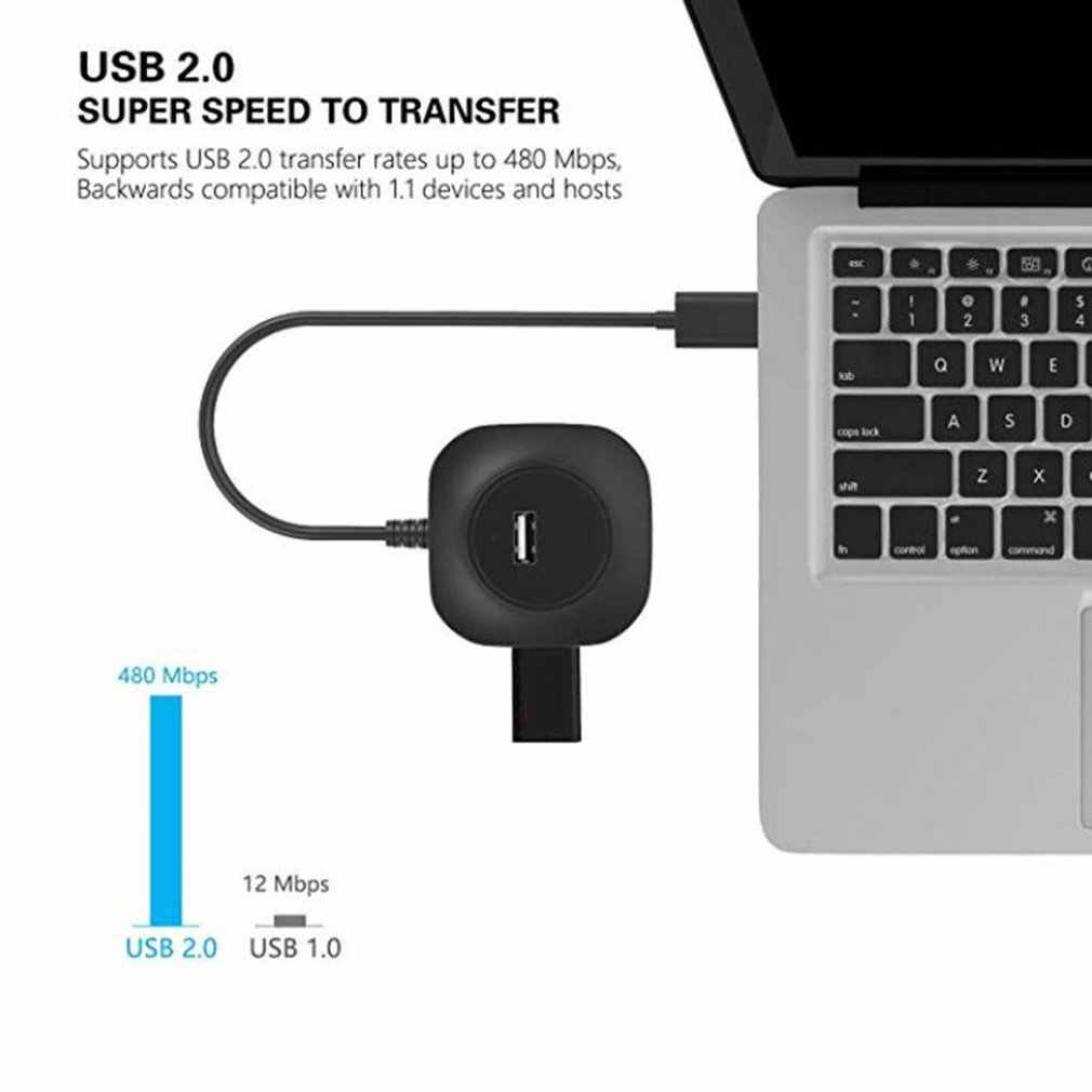 Круглая форма USB C концентратор USB 3,0 концентратор разветвитель несколько USB хаб Тип C концентратор 2,0 мульти хаб расширитель 4 порта концентратор