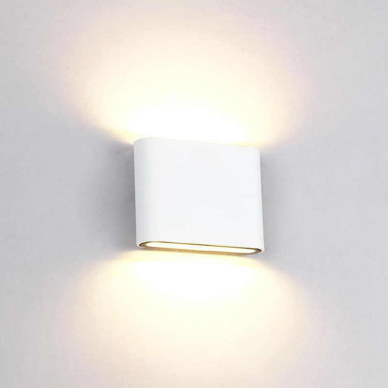 Lámpara de pared IP65 impermeable para exteriores, luz LED moderna de pared, aplique decorativo para interiores, luces para porche o jardín, lámparas de pared