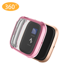 Full-Screen-Protector Versa Fitbit 61018 2 for Versa2-Case/61018 Plating