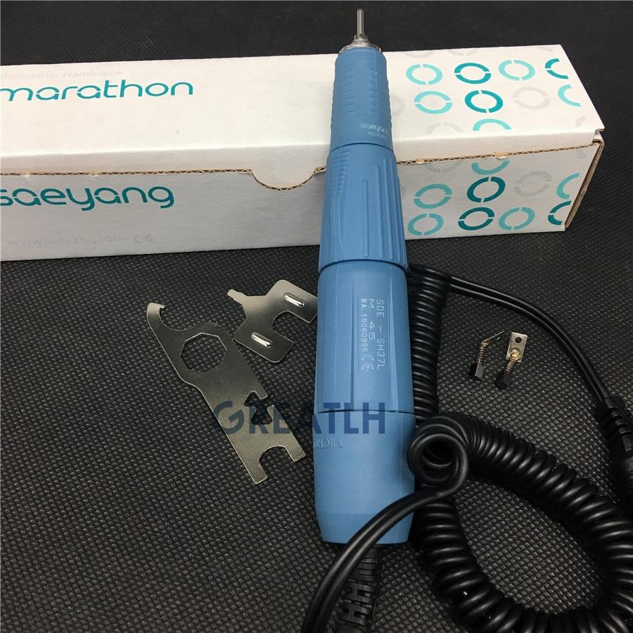 Dental Lab 45000 RPM Handpiece Micro Motor SH37L MARATHON Korea SAEYANG Teeth Polishing 2.35mm M45