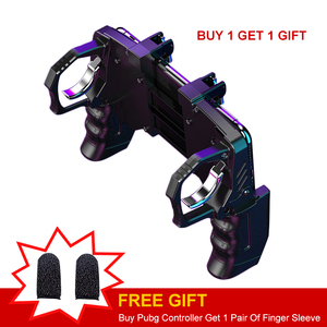Image 2 - 2020 For Pubg Controller For Mobile Phone Game Shooter Trigger Fire Button For IPhone Android Phone Gamepad Joystick PUGB Helper