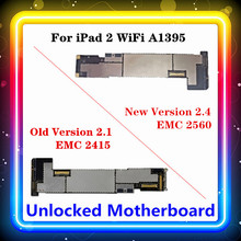 For IPad 2 Motherboard WIFI Version A1395 Free Original Replaced Main Board 2.1 , 2.4 (EMC 2415,EMC 2560) 16GB 32GB 64GB