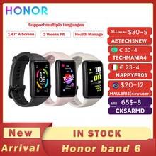 Honor – Bracelet connecté Band 6, écran AMOLED tactile 1.47