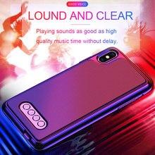 3 em 1 caso do telefone do alto falante bluetooth v4.2 caso do telefone do banco de potência tpu capa dura para o iphone 6/6 s 7 8 plus x/xs max xr