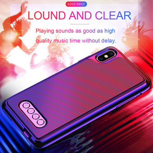 Image 1 - 3 in 1 Bluetooth Speaker Phone Case V4.2 Power Bank Phone Case TPU Hard Shell Cover For iPhone 6/6S 7 8 Plus X/XS Max XR