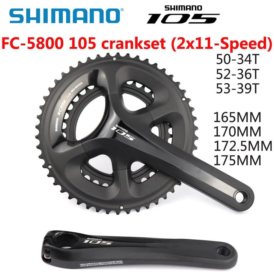 SHIMANO 105 FC-5800 CRANKSET 170MM 50//34T W//O BB