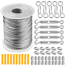 Wire-Rope Soft-Cable Clothesline-Diameter Stainless-Steel Transparent Flexible 57pcs/Set