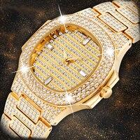 2020 New Luxury Ladies Watch Fashion Gold Wrist Watches For Women Watches Rhinestone Waterproof Ladies Quartz Watch Female Clock