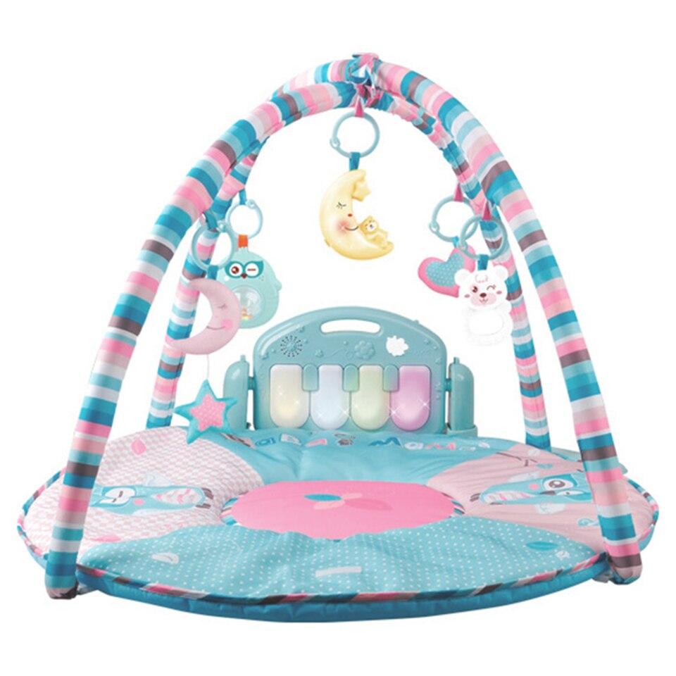 Musique bébé Piano clavier tapis de jeu jouet Gym tapis de jeu tapis Musical tapis pour les nouveau-nés enfants coloré bébé gym développement tapis - 5