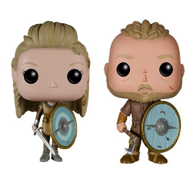 Vikings Ragnar Lothbrok 177  Lagertha 178 Vinyl Figure Model Toys Gifts