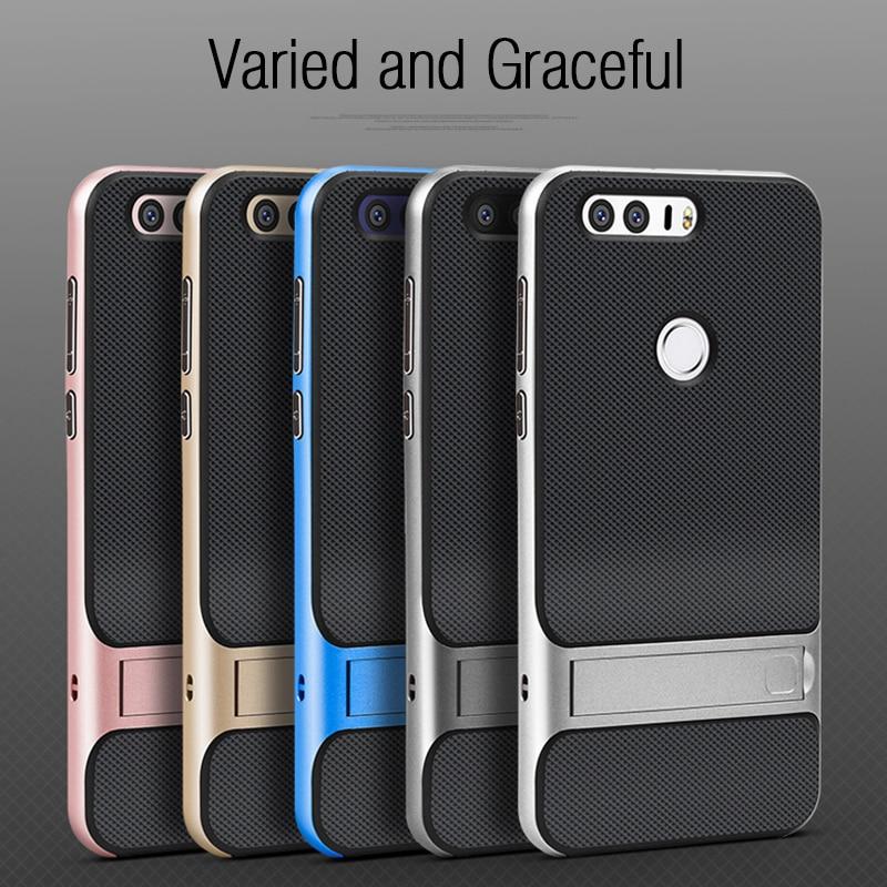 Luxury Phone Back Cover untuk Huawei Honor 8 Kasus Gaya Buku Berdiri - Aksesori dan suku cadang ponsel - Foto 2