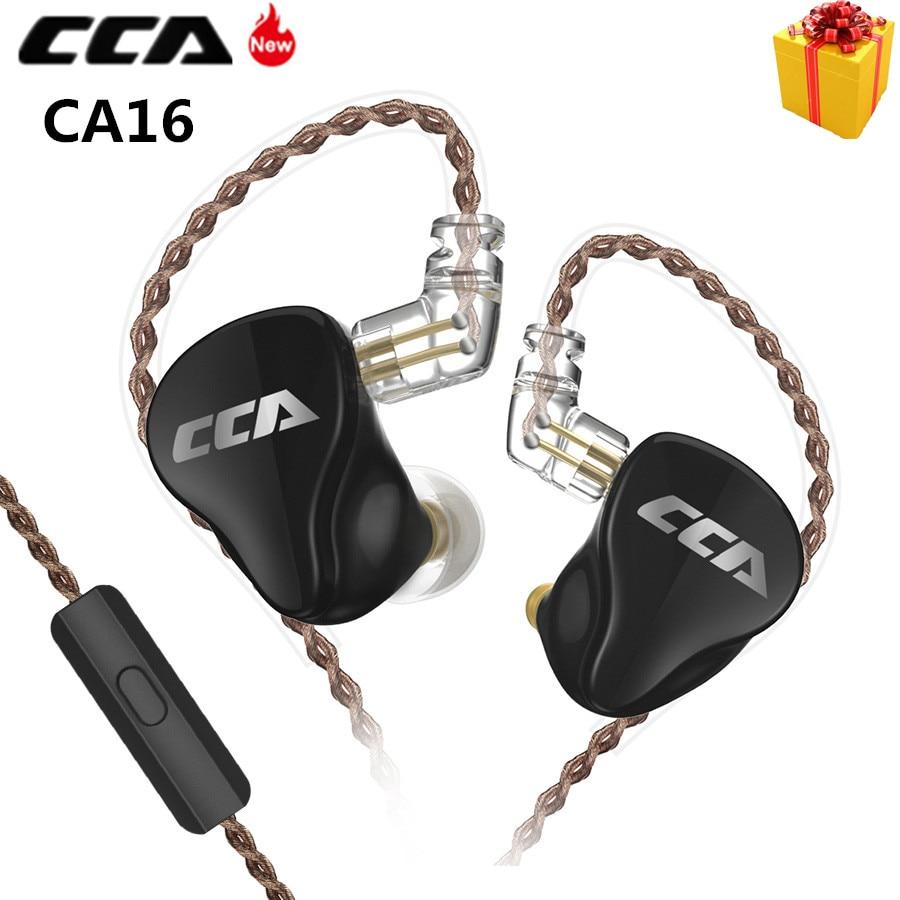 New CCA CA16 Hybrid Metal Headset In Ear Monitor Earphones HIFI  Detachable Detach 2PIN Cable Earphones