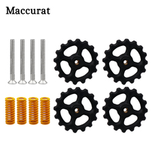4 Set Lot 3D Printer Parts Heated Bed Spring Leveling Kit M3 45 Screw nut Prusa