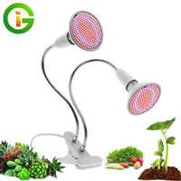 Wachsen LED-Licht Full Spectrum mit E27 Lampenfassung Clip-on Phyto-Lampen 72LEDs 200LEDs 290LEDs für Zimmerpflanzen Blumen Wachstum