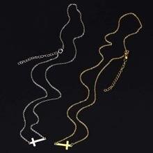 Новое поступление маленькое ожерелье с боковым крестом простое
