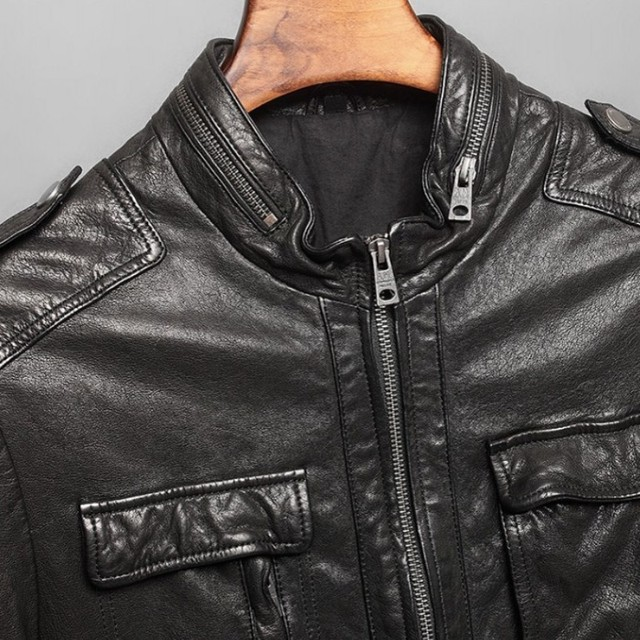 High Quality Men Italian Leather Jacket 4XL