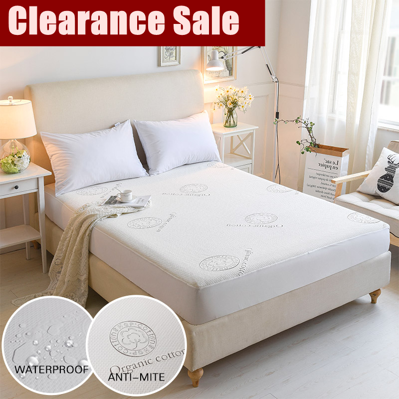 Clearance Sale Organic Cotton Jacquard Waterproof Mattress Cover Bed Mattress Protector For Bed Hotel Wetting Colcha De Cama