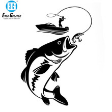 Funny Fishing Fisherman Hobby Fish Boat Car Stickers Vinyl Decal Motorcycle Accessories