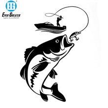 Śmieszne wędkowanie rybak Hobby łódź rybacka naklejki samochodowe winylowa tablica naścienna akcesoria motocyklowe