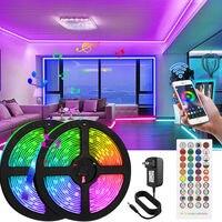 Wifi inteligente LED de luz de tira trabaja con Alexa y asistente de Google cinta música Sync 5050 RGB que cambia de Color para la pared del dormitorio
