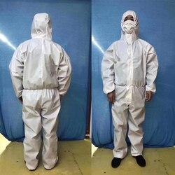 Bata quirúrgica desechable traje de protección médica ropa de protección antibacteriana química a prueba de polvo tejido a prueba de agua Overal
