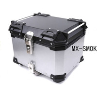 45L 55L 65L Universal Motorcycle Storage Trunk Tail Top Tool Box Rear Luggage Helmet Lock Case Waterproof Aluminum Accessories