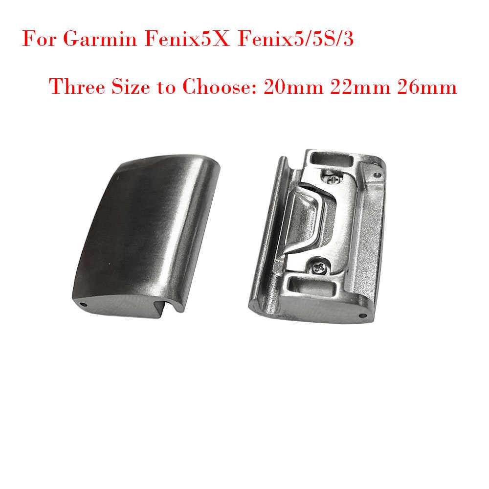 20mm 22mm 26mm מהיר-Fit מתכת שעון להקת מתאם עבור Garmin Fenix 5X Fenix 5 5S fenix 3 כל מודלים קל Fit אבזם מחבר