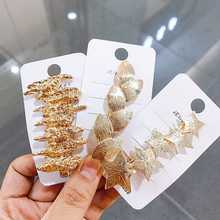 цена на Hollow Metal Bow Hairpins Retro Palace Style Pearl Girl Heart Shaped Side Clip Headwear Hair Accessories