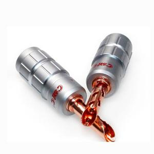 Image 4 - Colleimage 8pcs Hifi BFA תקע זכר CMC אדום נחושת בננה Plug Hi end בננה שקע לא הלחמה עבור רמקול כבל