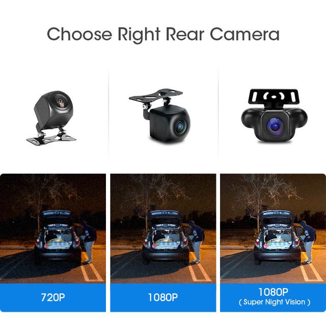 Jansite 10 inch Mirror Car DVR Streaming Media Full Screen Car Camera dash cam 1080P rear view camera Parking Monitor recorder 3