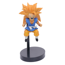 japanese anime Dragon ball Z goku PVC Action Figure Toys yellow hair small goku collectible Decoration Model Toys for kid gift