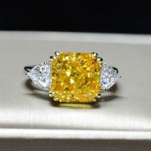 Image 2 - Роскошное обручальное кольцо для женщин, квадратное кольцо AAAAA + с кристаллом из циркония, романтическое свадебное женское кольцо, вечерние Подарочные Кольца для девушки